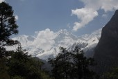 Manaslu North seen from upper Dudha Khola valley.JPG